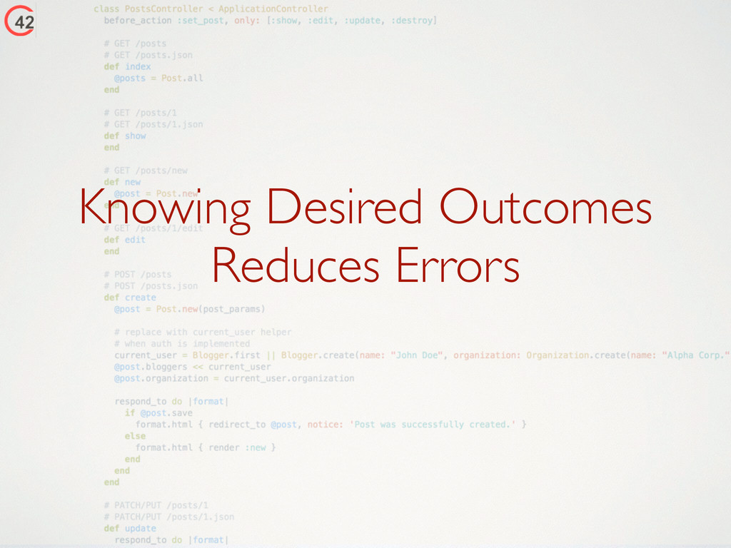 Knowing Desired Outcomes Reduces Errors