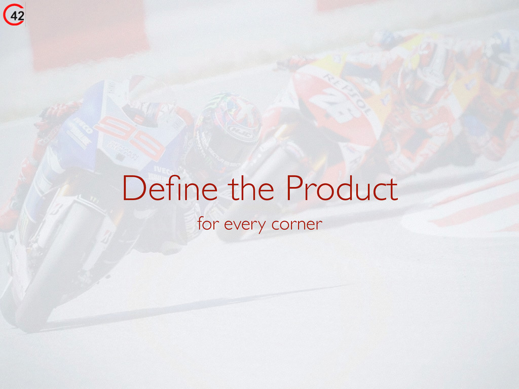 Define the Product for every corner