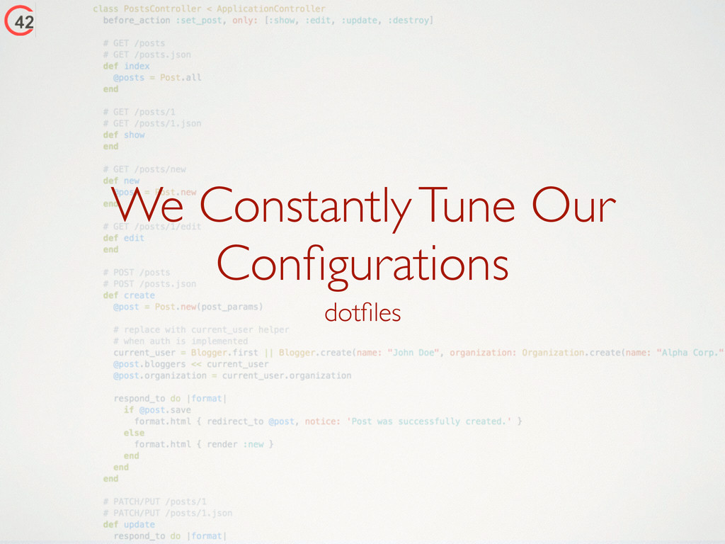 We Constantly Tune Our Configurations dotfiles