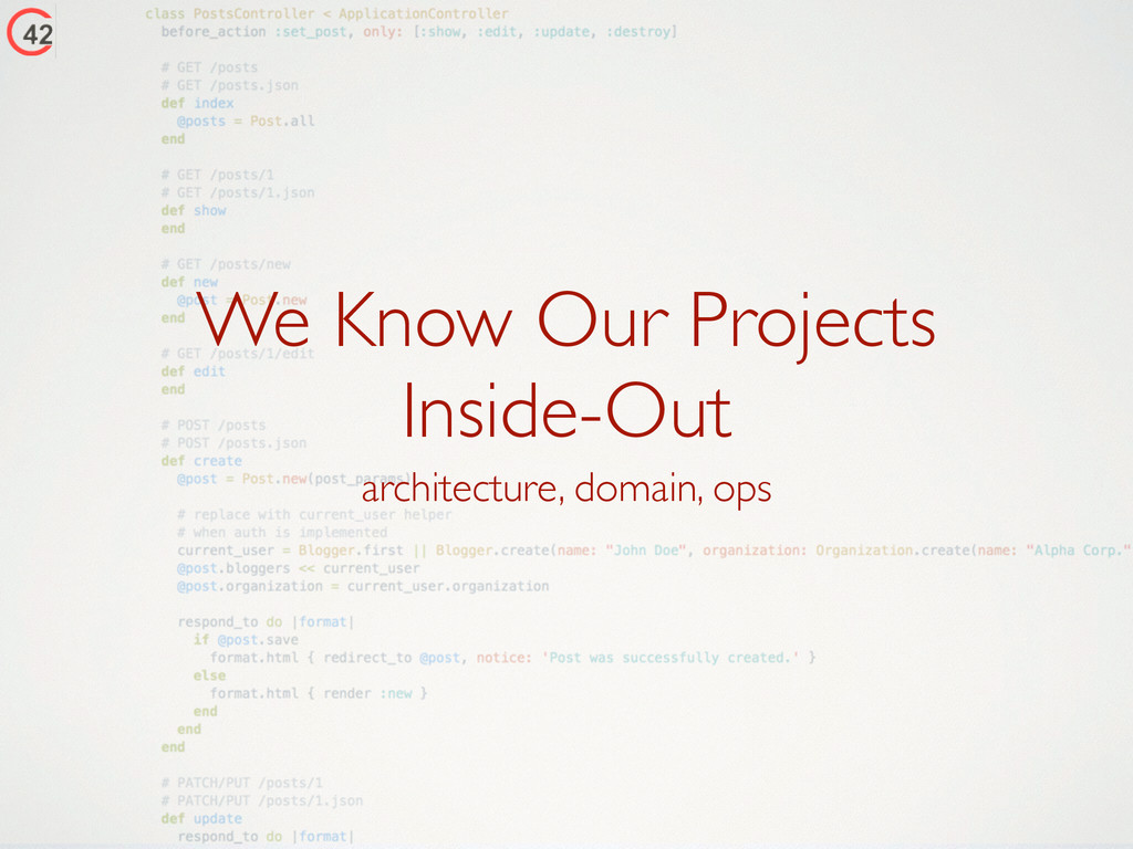 We Know Our Projects 	 