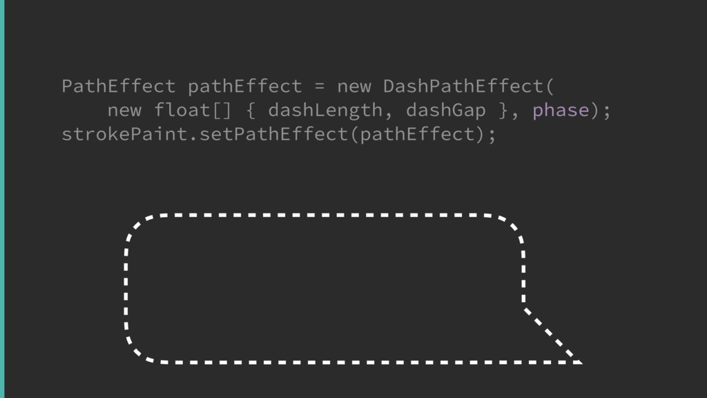 PathEffect pathEffect = new DashPathEffect( new...