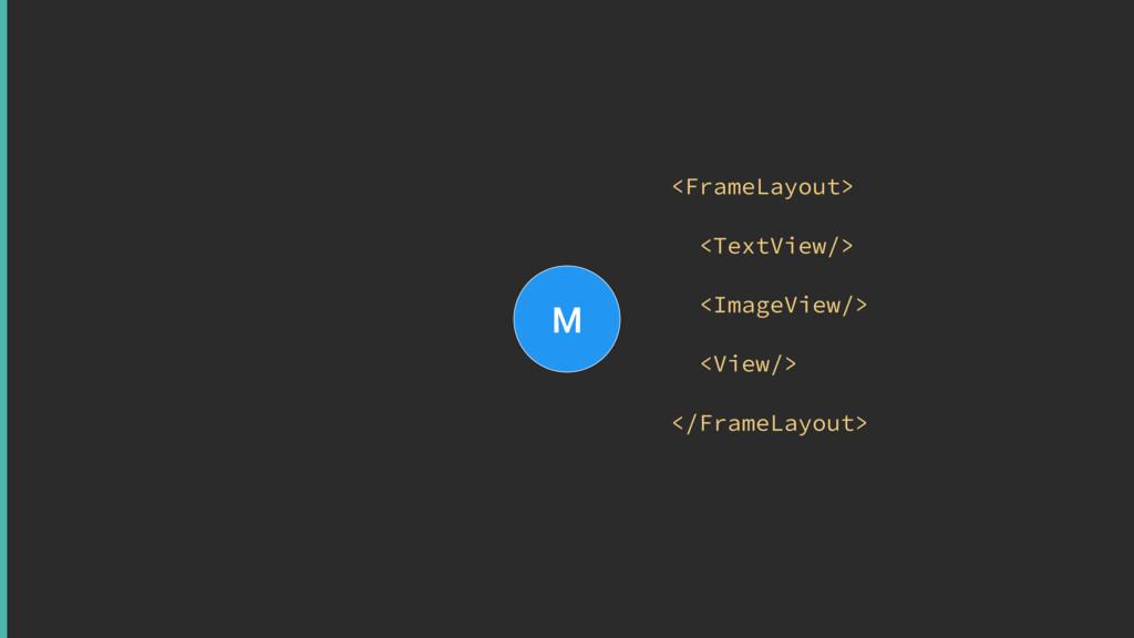 M <FrameLayout> <TextView/> <ImageView/> <Vi...