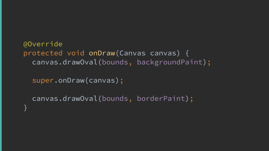 @Override protected void onDraw(Canvas canvas) ...
