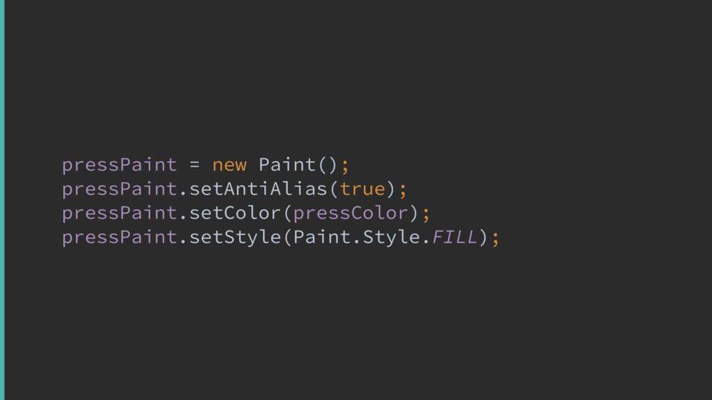 pressPaint = new Paint(); pressPaint.setAntiAl...