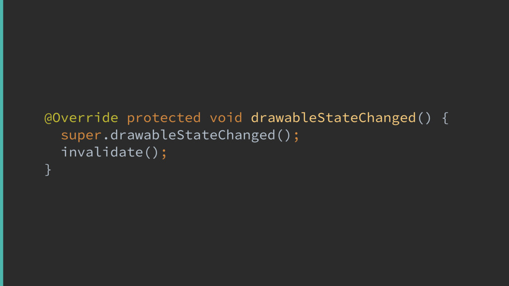 @Override protected void drawableStateChanged()...