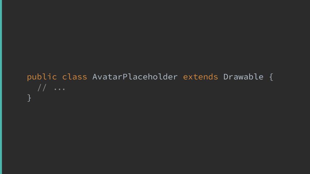 public class AvatarPlaceholder extends Drawable...