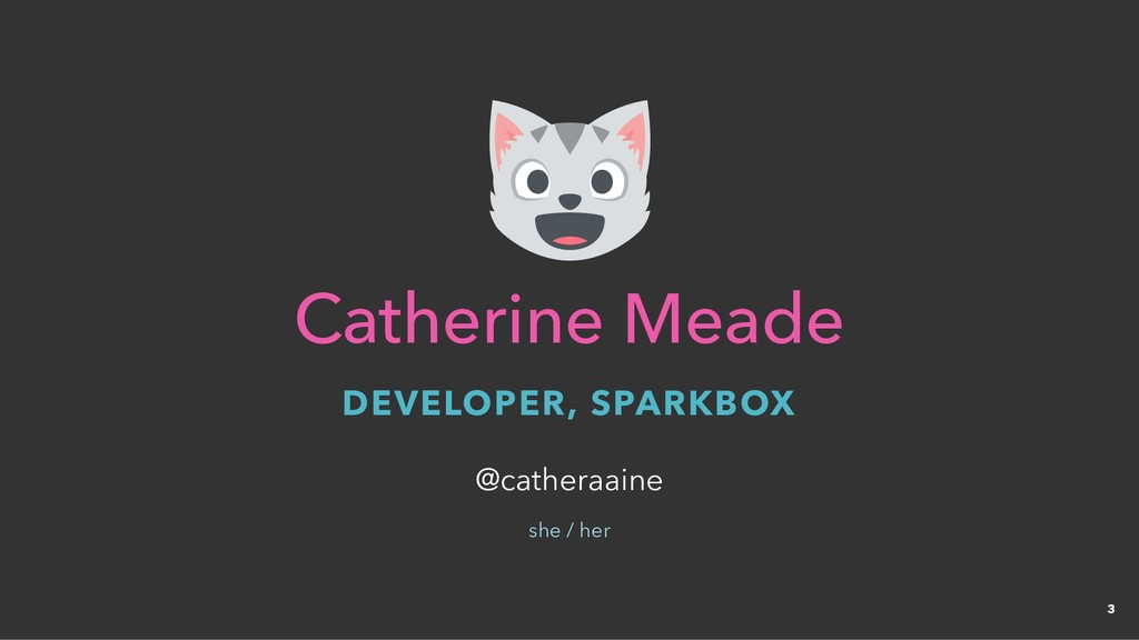 Catherine Meade Catherine Meade DEVELOPER, SPAR...