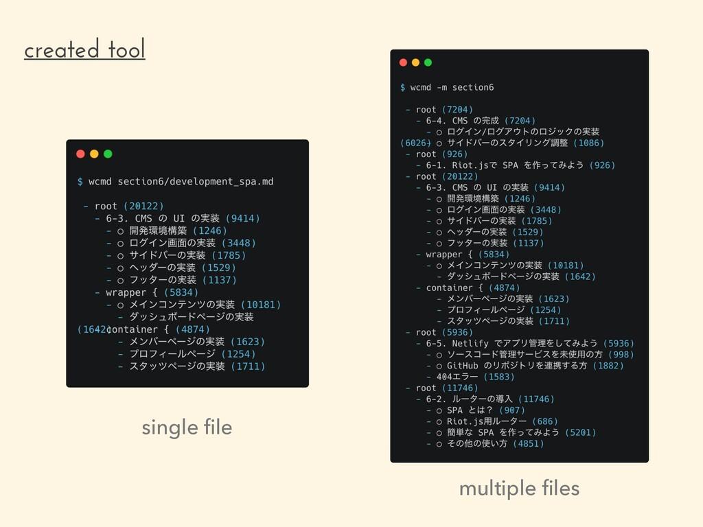 created tool single file multiple files