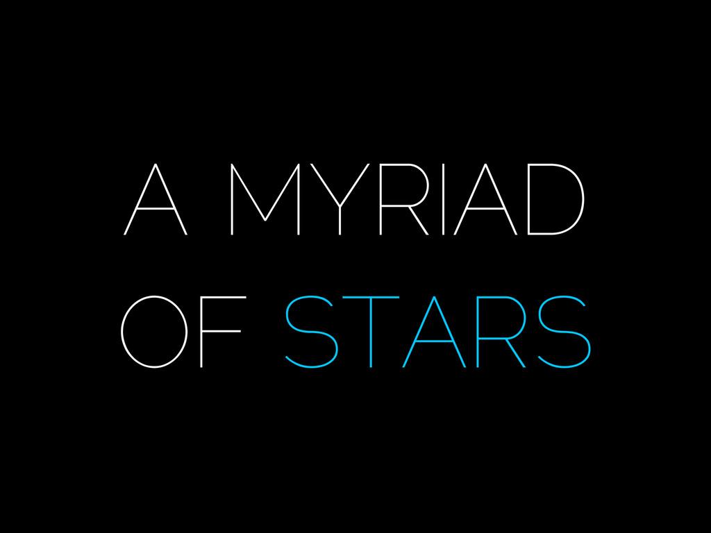 Photo, Audio NASA A MYRIAD OF STARS