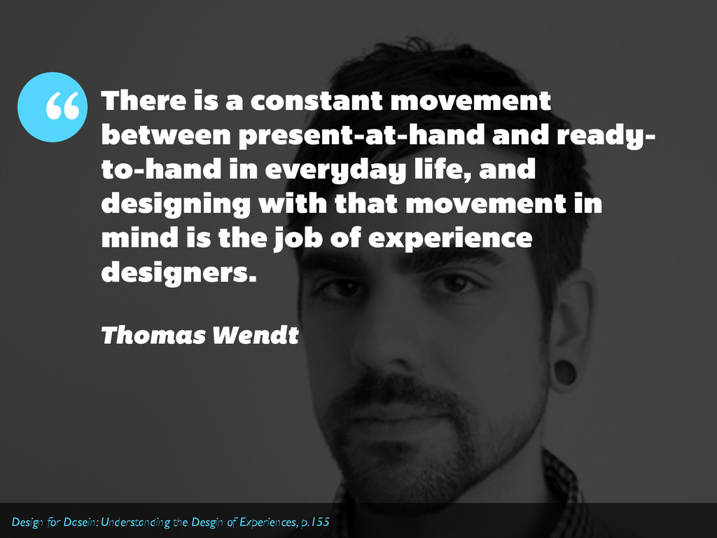 There is a constant movement between present-at...