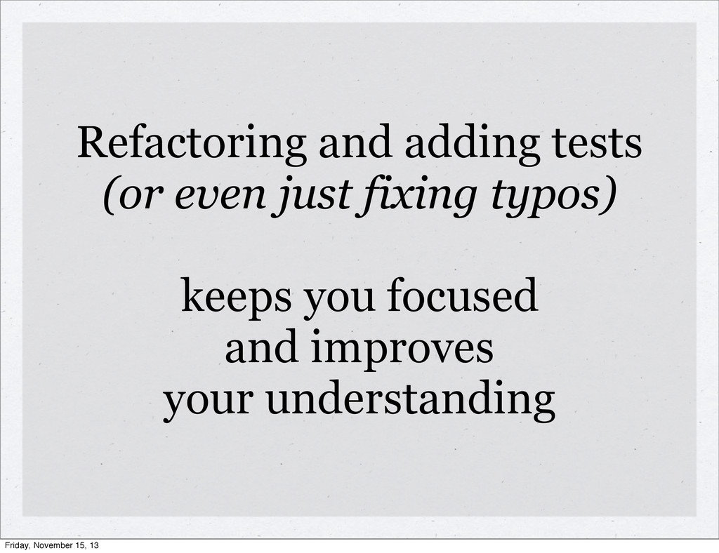 Refactoring and adding tests (or even just fixi...