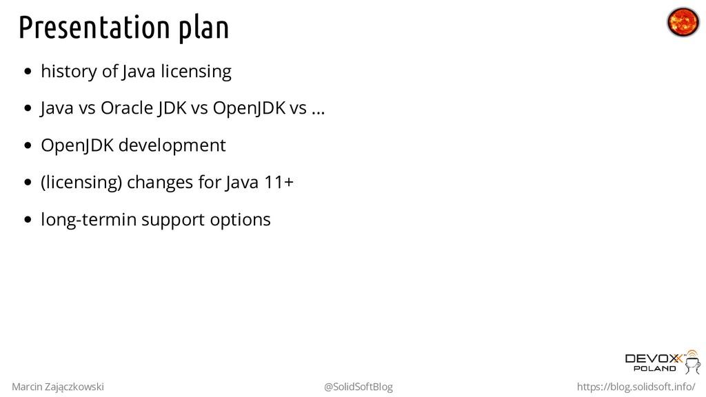 Presentation plan history of Java licensing Jav...