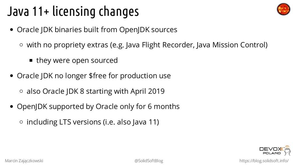 Java 11+ licensing changes Oracle JDK binaries ...