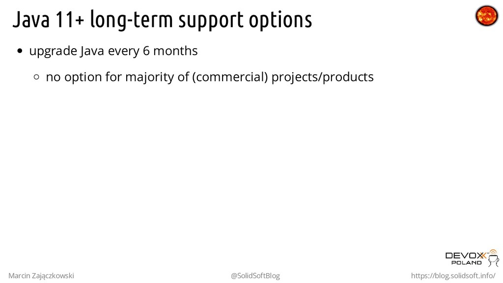 Java 11+ long-term support options upgrade Java...