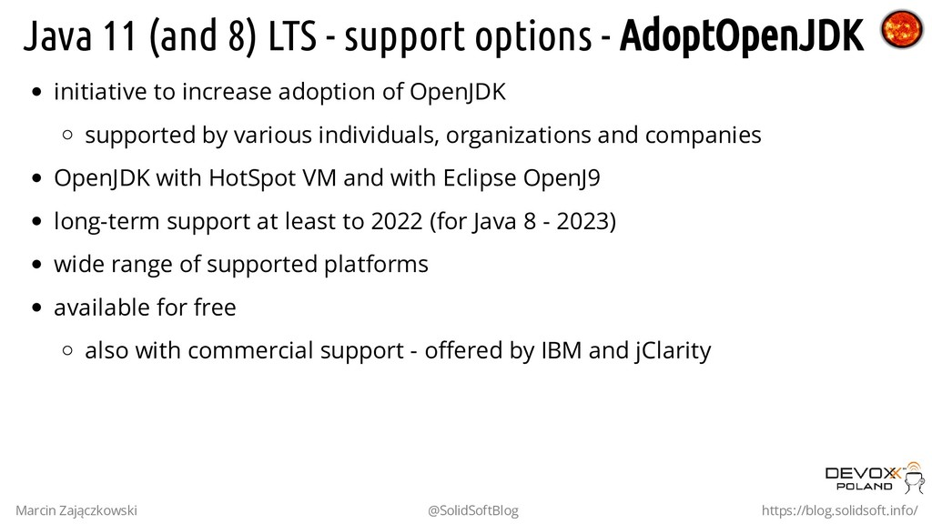 Java 11 (and 8) LTS - support options - AdoptOp...