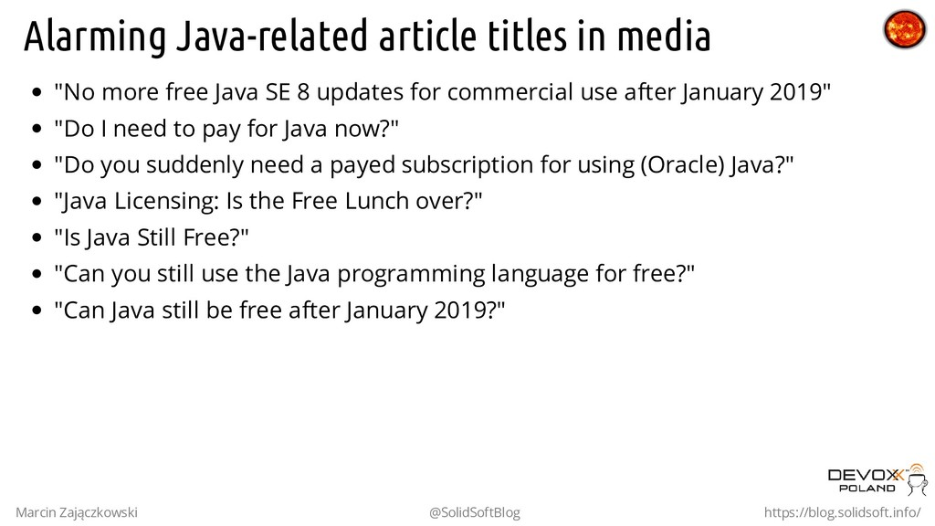 "Alarming Java-related article titles in media ""..."