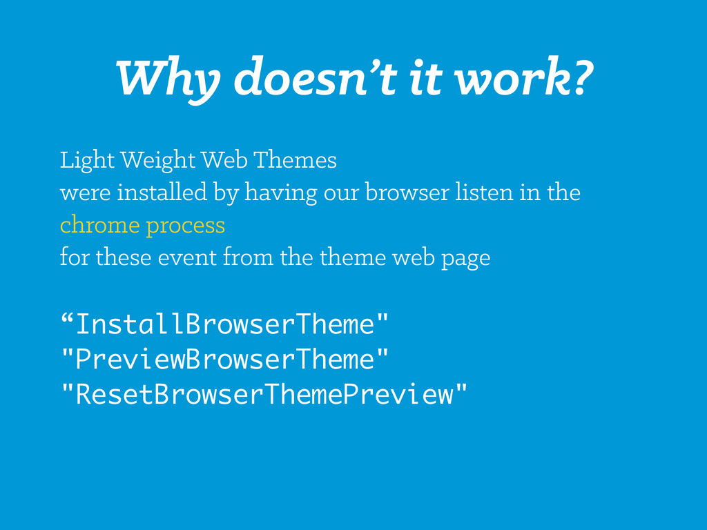 Why doesn't it work? Light Weight Web Themes we...