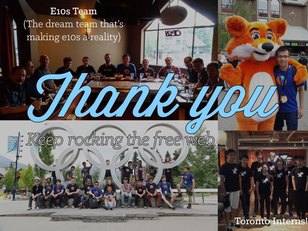 Toronto Interns! E10s Team (The dream team that...