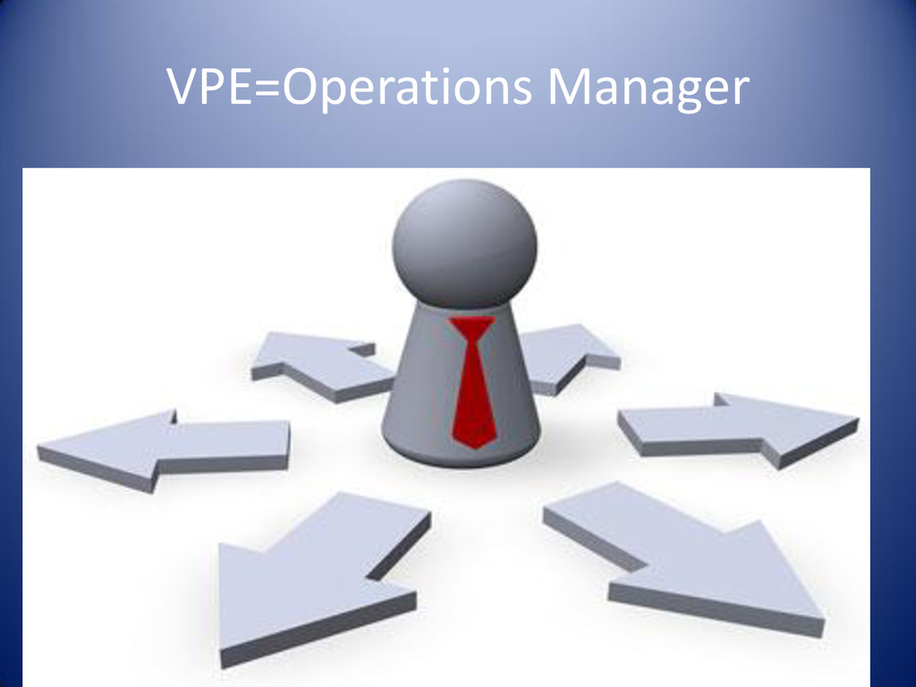 VPE=Operations Manager