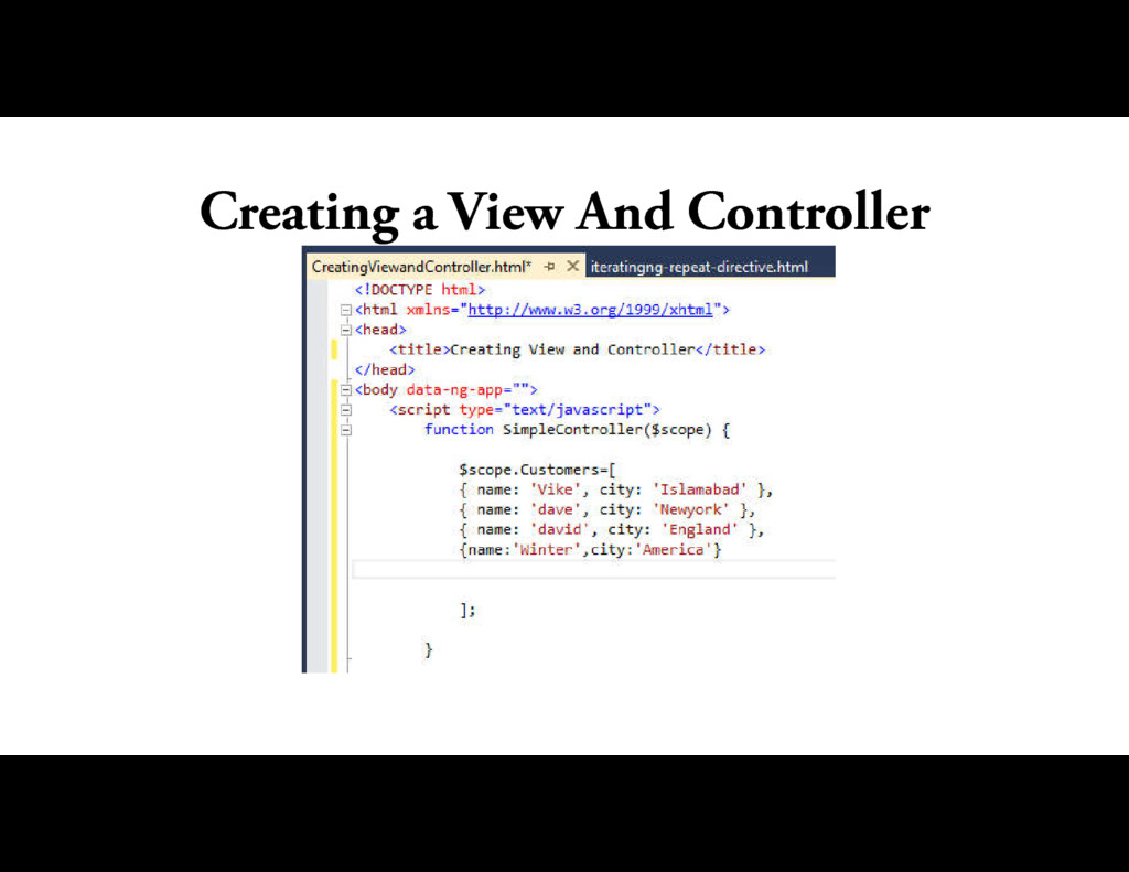 Creating a View And Controller