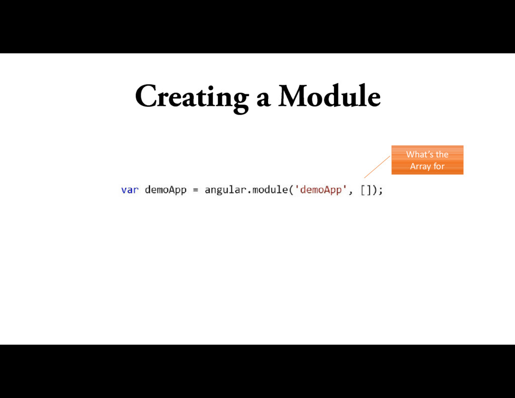 Creating a Module What's the Array for