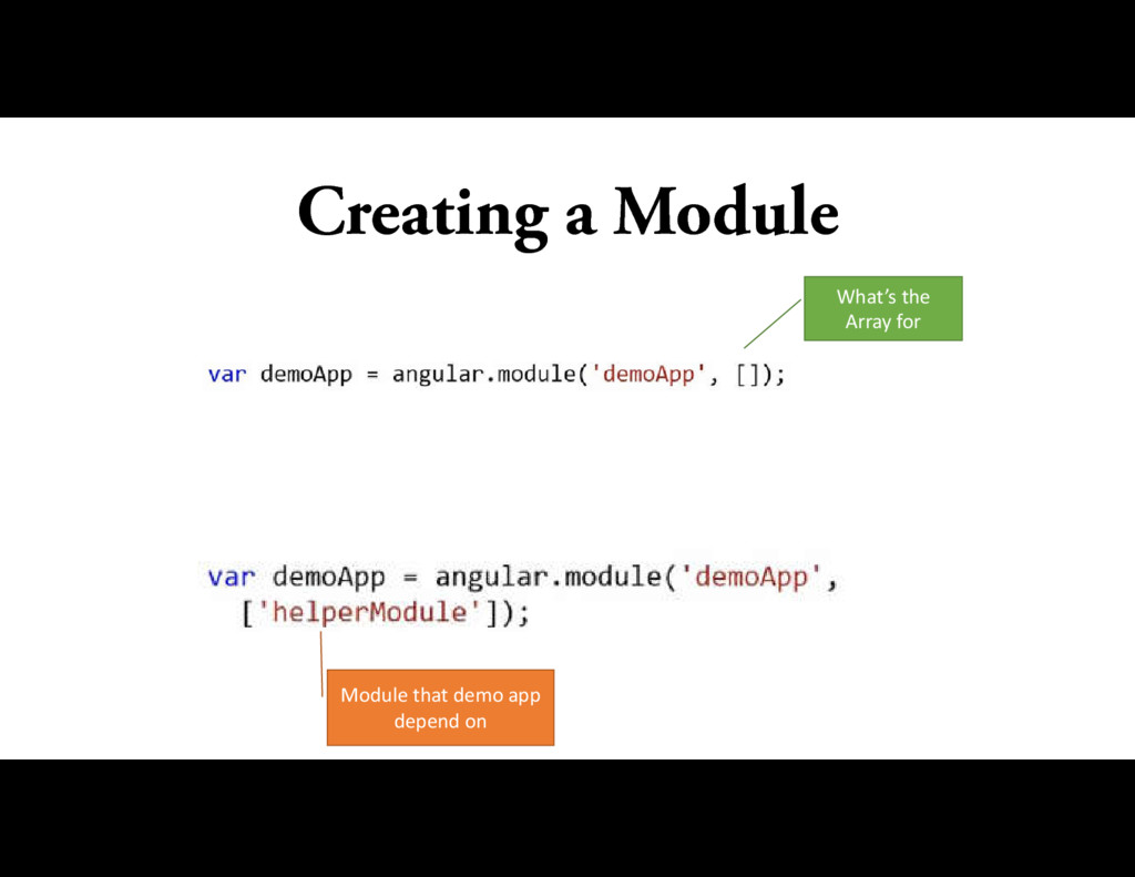 Creating a Module What's the Array for Module t...