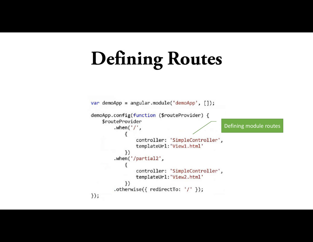 Defining Routes Defining module routes