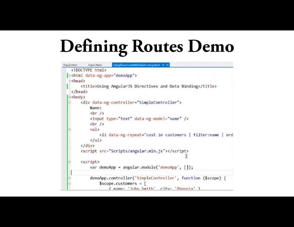 Defining Routes Demo