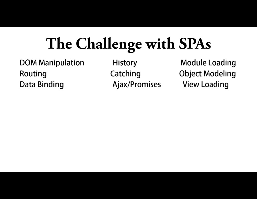 The Challenge with SPAs DOM Manipulation Histor...