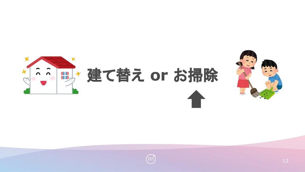 建て替え or お掃除 12