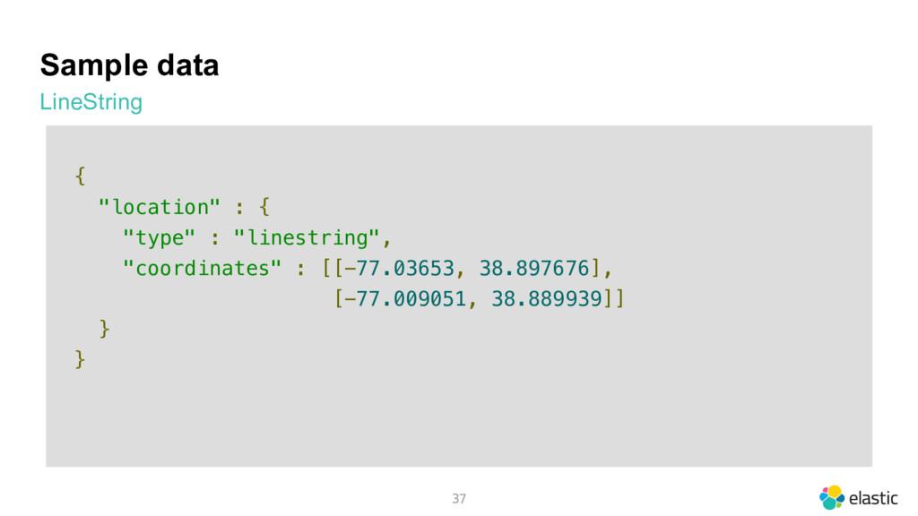 "Sample data LineString 37 { ""location"" : { ""typ..."