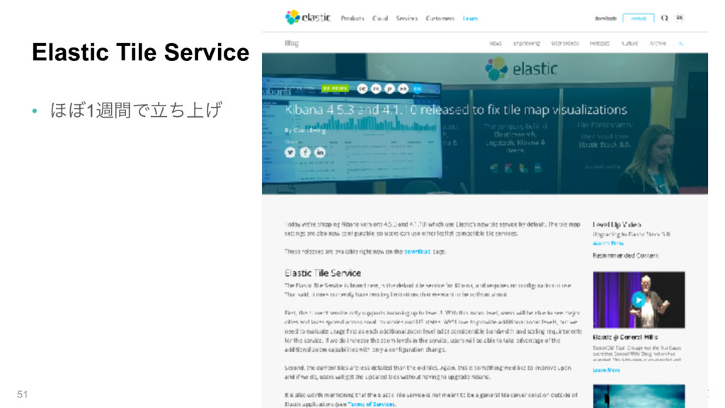 Elastic Tile Service • ΄΅1िؒͰ্ཱͪ͛ 51