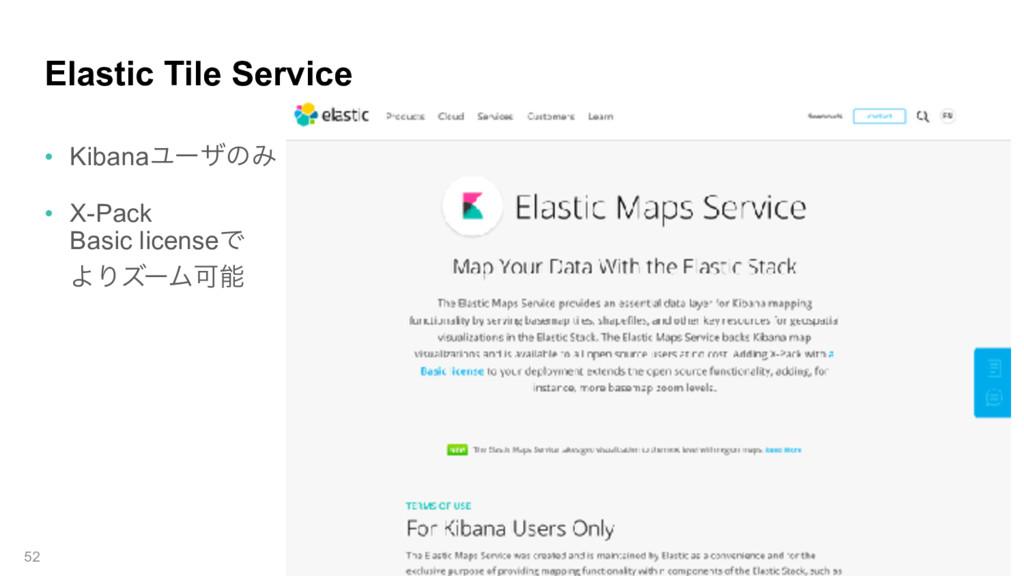 Elastic Tile Service • KibanaϢʔβͷΈ • X-Pack  B...