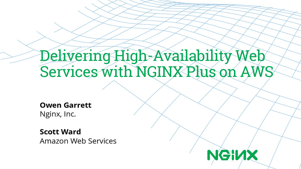 Delivering High-Availability Web Services with ...