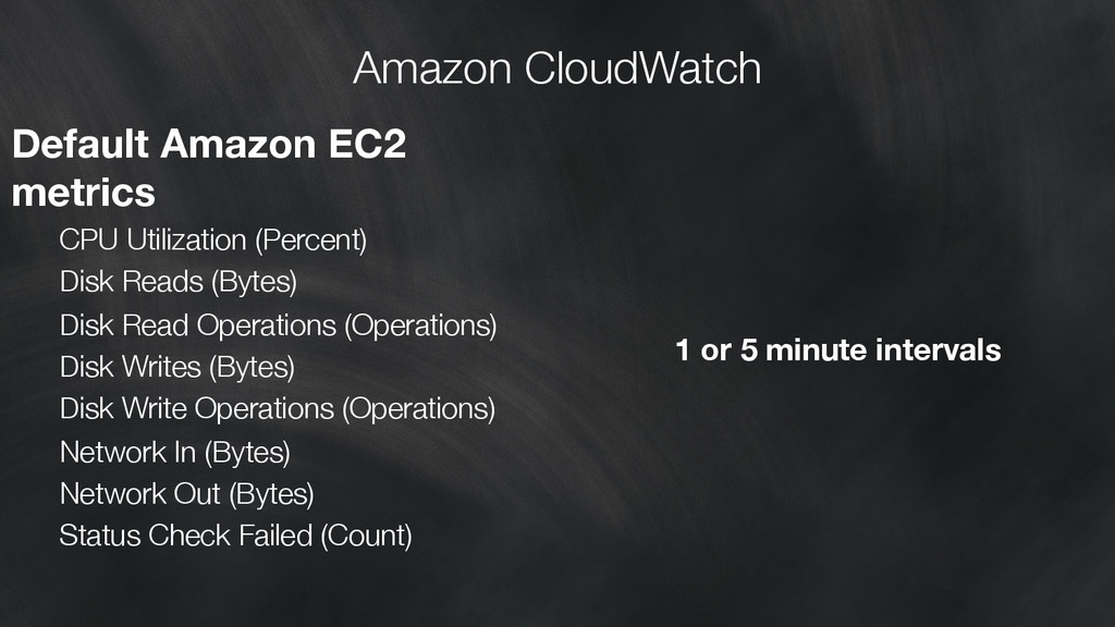 Amazon CloudWatch Default Amazon EC2 metrics ...