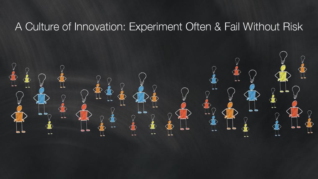 A Culture of Innovation: Experiment Often & Fai...