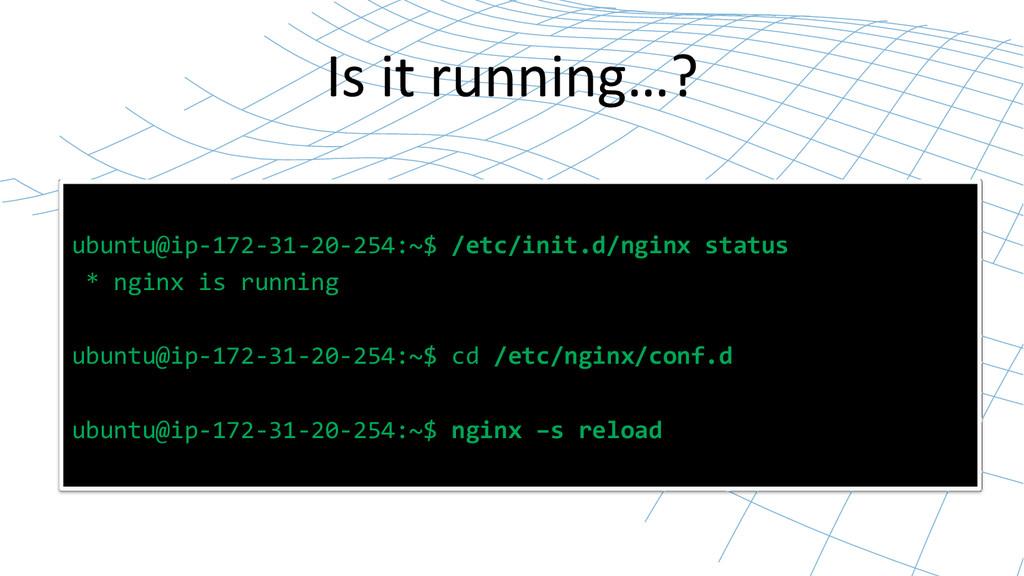 ubuntu@ip-‐172-‐31-‐20-‐254:~$ /etc...