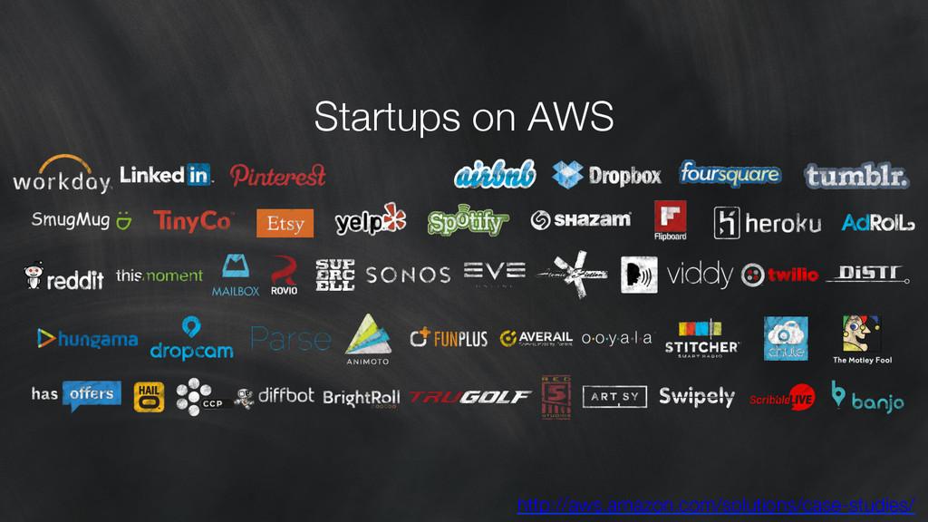 Startups on AWS http://aws.amazon.com/solution...