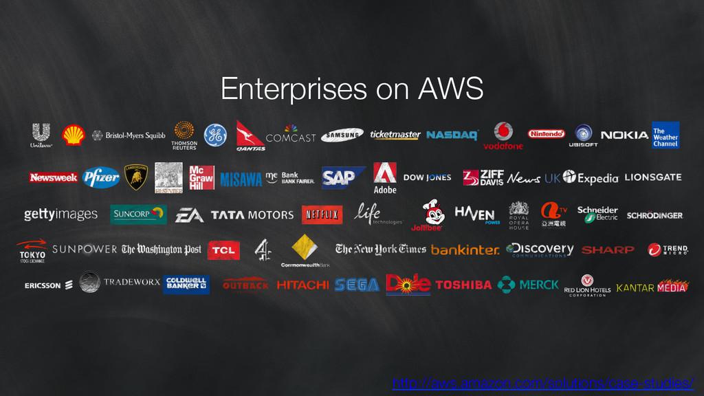 Enterprises on AWS http://aws.amazon.com/solut...
