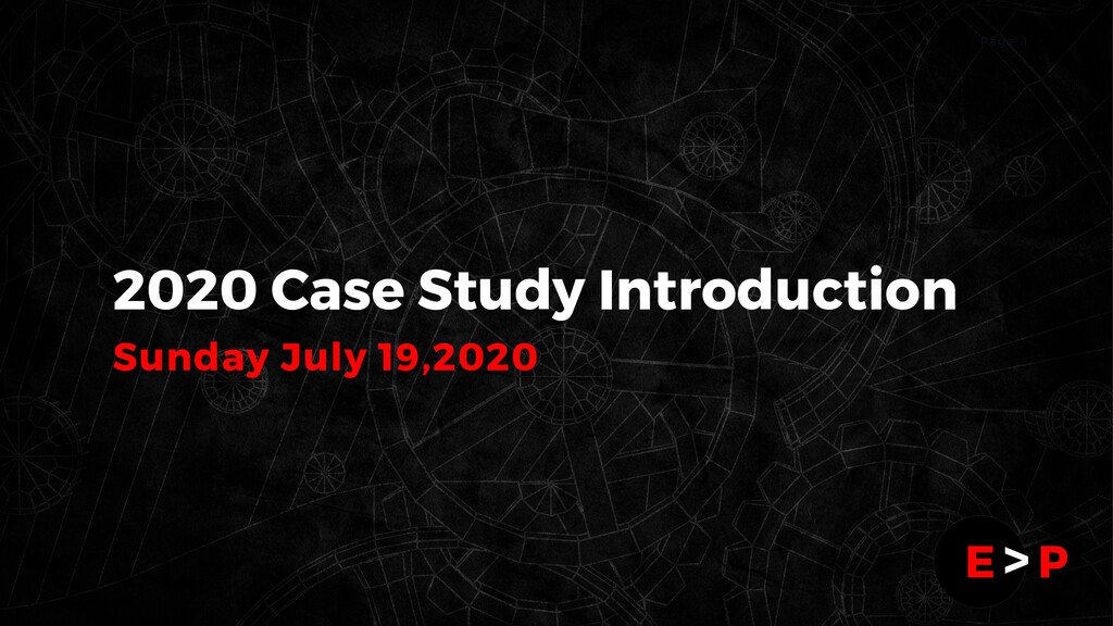 1 P a g e 2020 Case Study Introduction Sunday J...