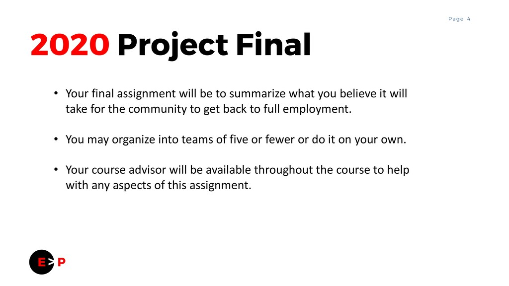 4 P a g e 2020 Project Final • Your final assig...