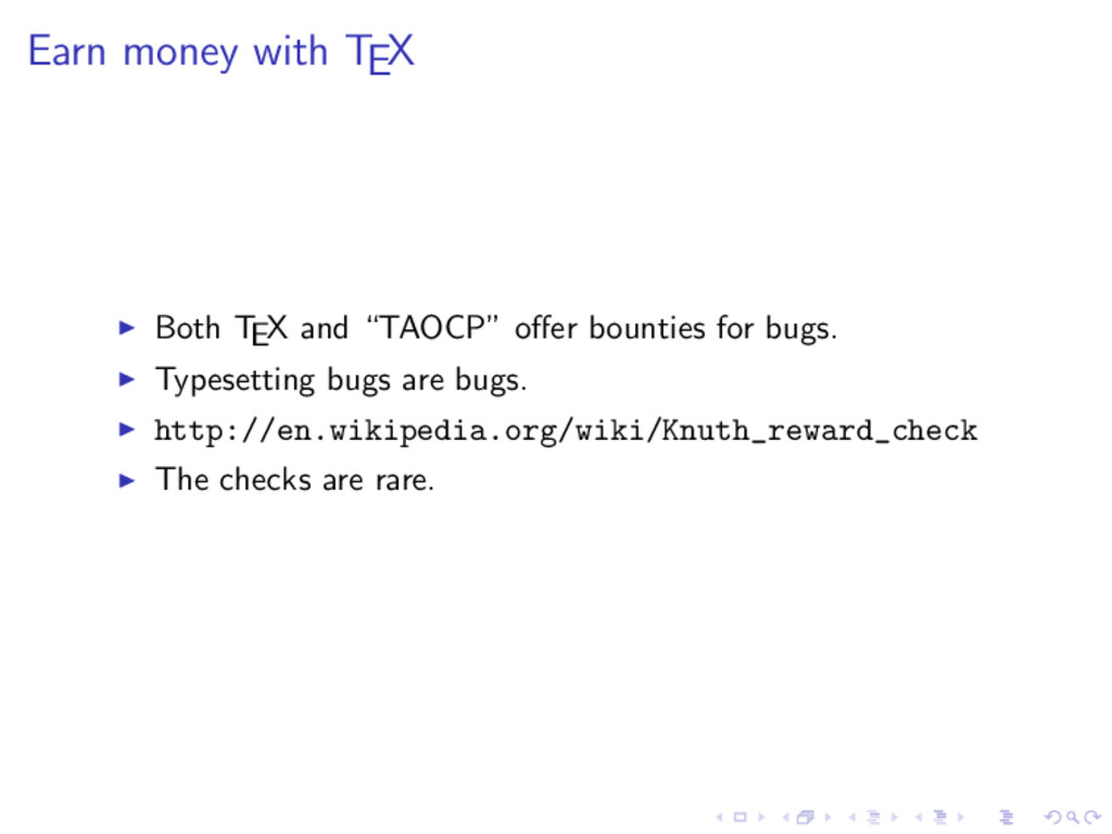 """Earn money with TEX Both TEX and """"TAOCP"""" offer b..."""