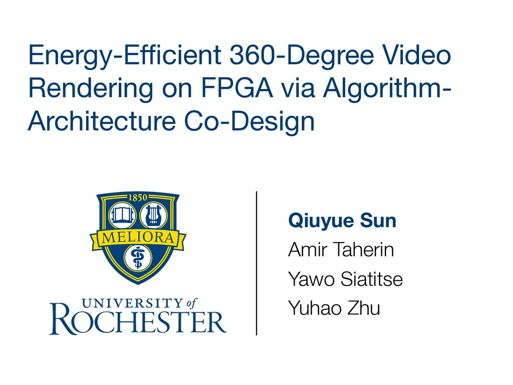 Energy-Efficient 360-Degree Video Rendering on FP...