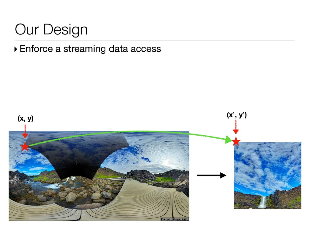 Our Design ▸ Enforce a streaming data access (x...