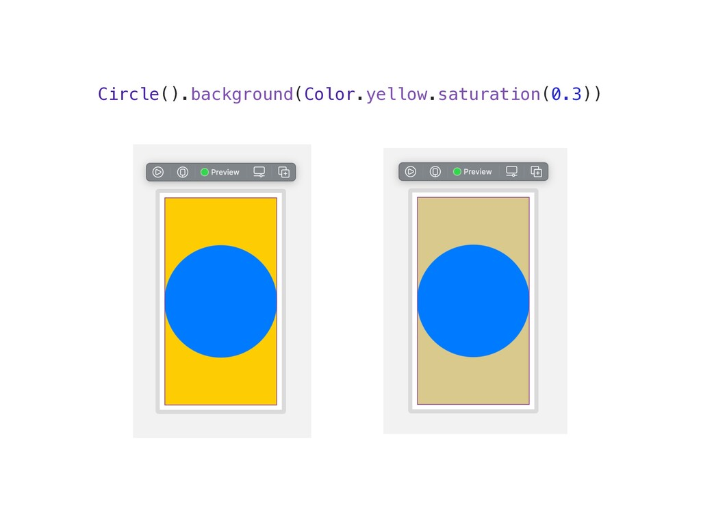 Circle().background(Color.yellow.saturation(0.3...