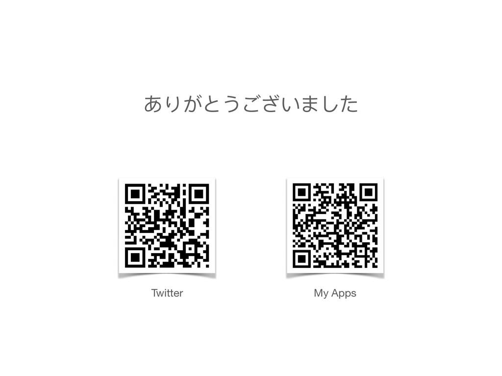 ありがとうございました Twitter My Apps