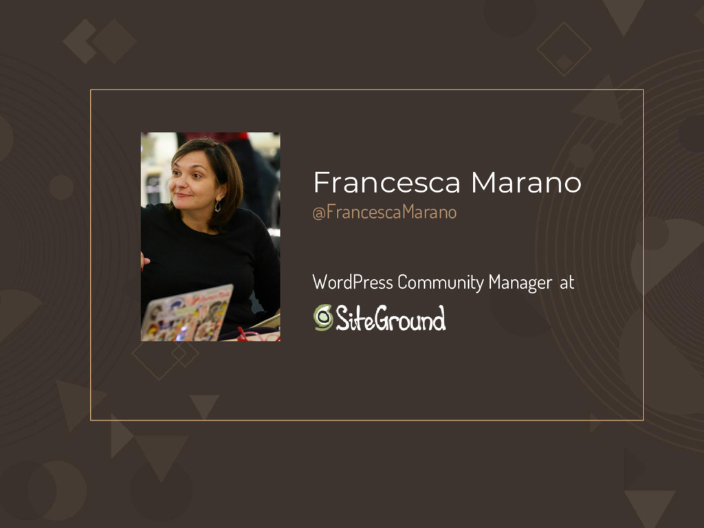 Francesca Marano @FrancescaMarano WordPress Com...