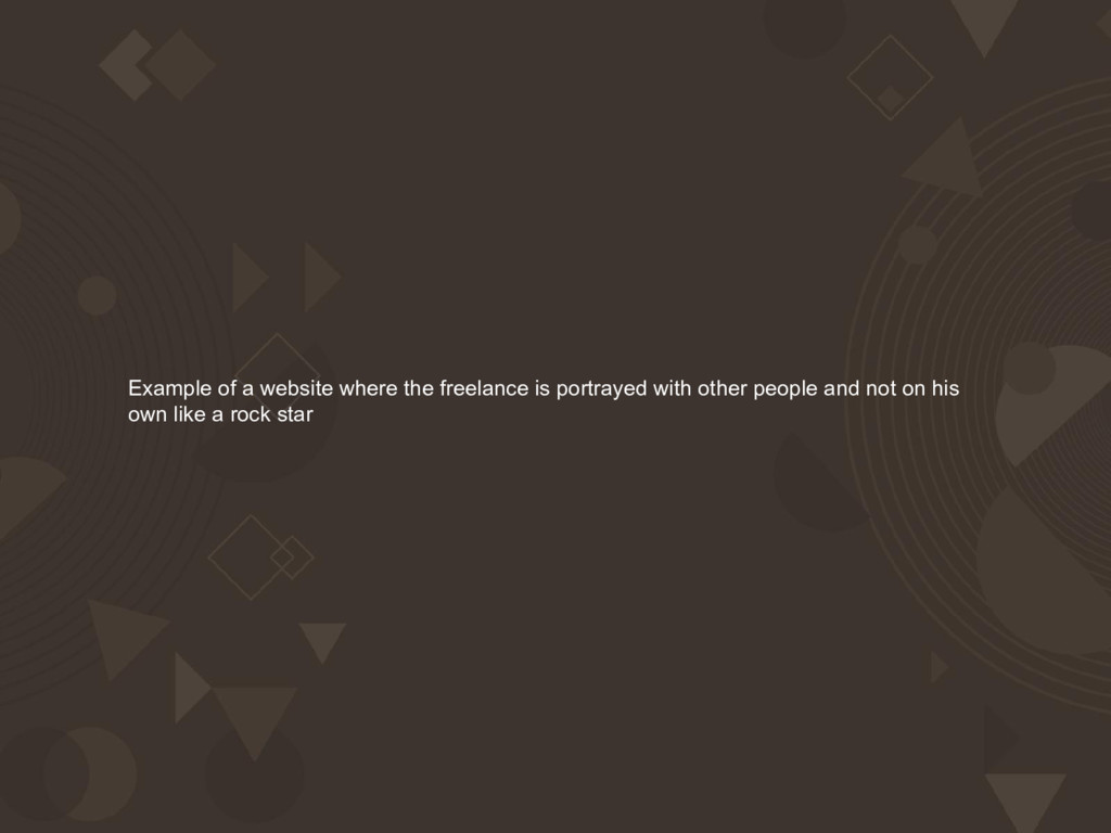 Example of a website where the freelance is por...