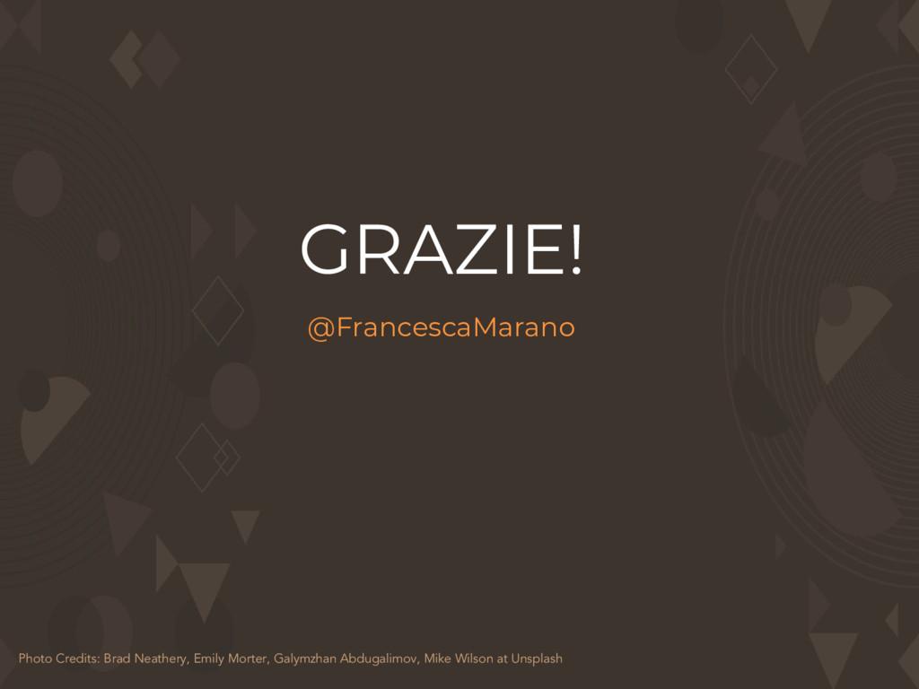GRAZIE! @FrancescaMarano Photo Credits: Brad Ne...
