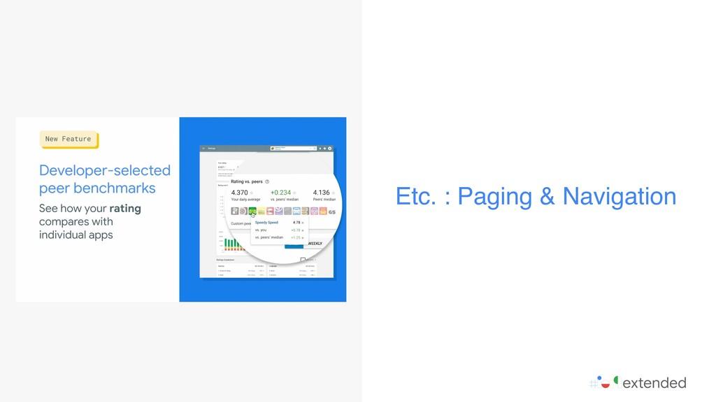 Etc. : Paging & Navigation